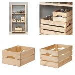 パイン材の収納ボックス-KNAGGLIG/クナッヅリグ